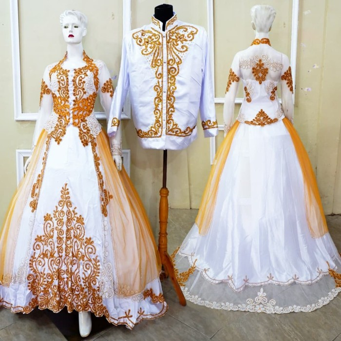 Jual Ready Set Couple Gaun Kebaya Akad Cantik Kota Surakarta My