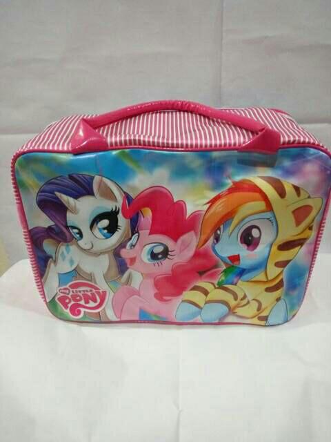 Tas Travel Bag Koper Anak Ukuran Besar Karakter Little Pony Violet