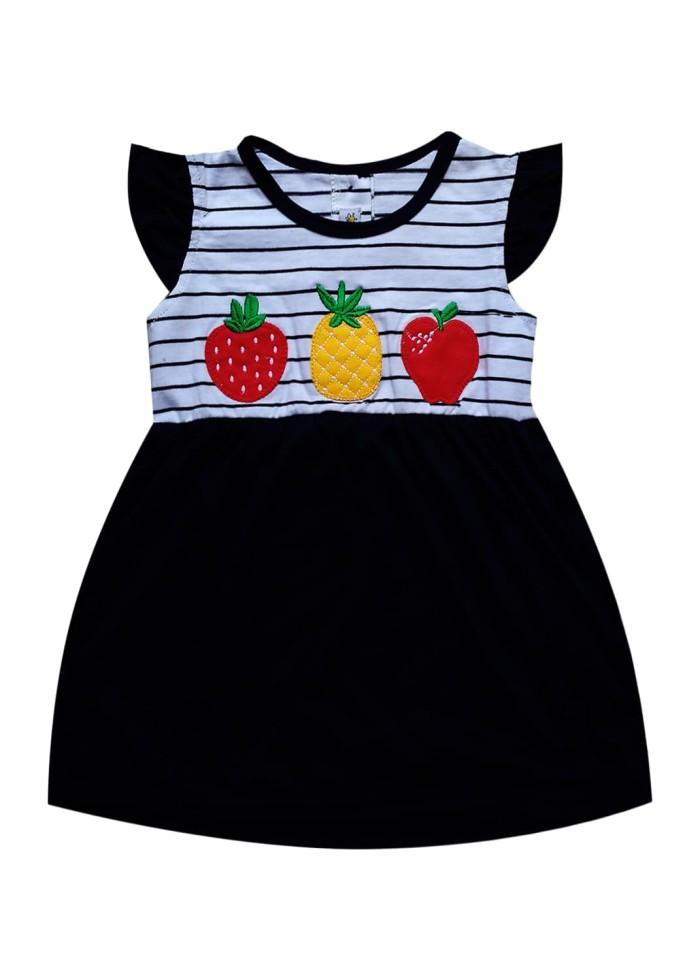 bk3-1711 macbee kids baju anak dress fruity - size 5