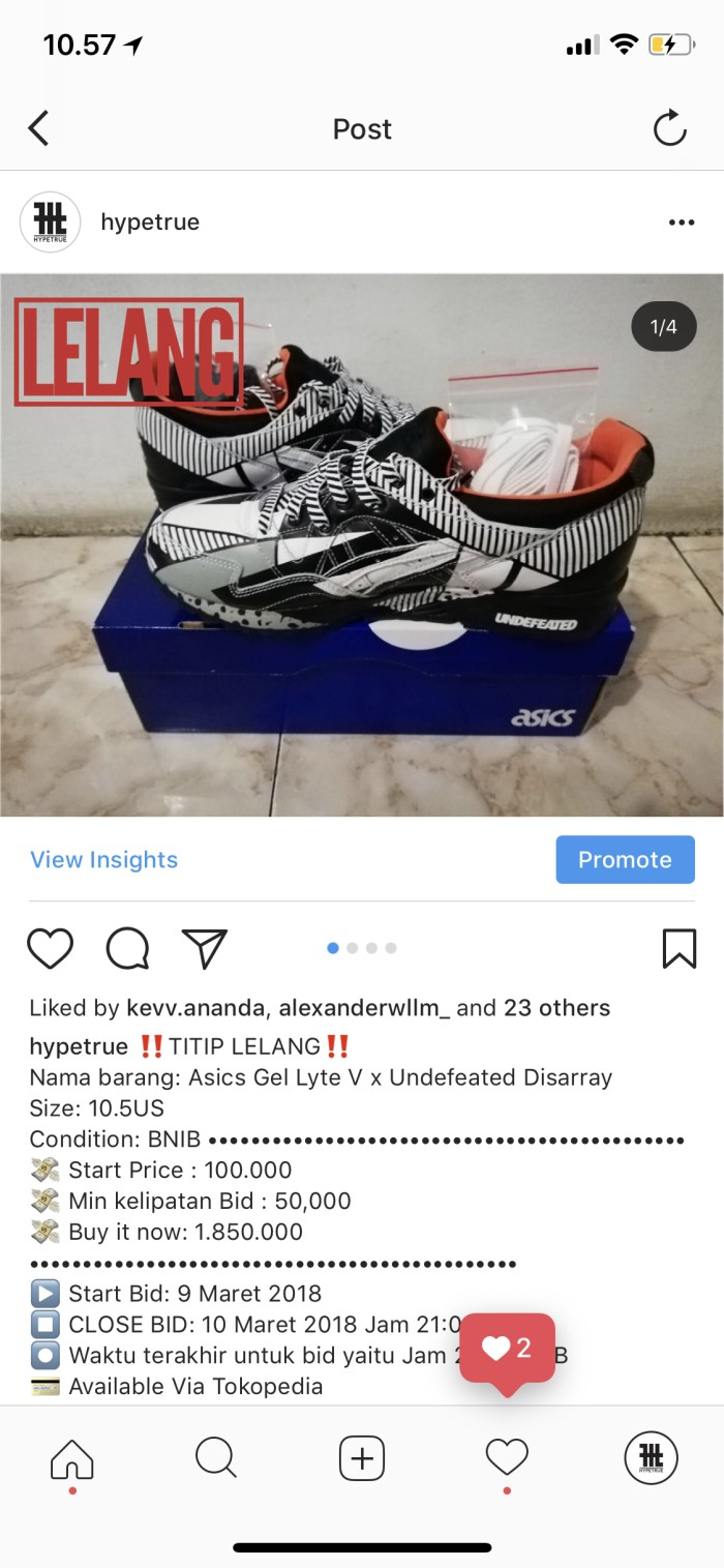 harga Asics gel lyte v x undefeated disarray Tokopedia.com