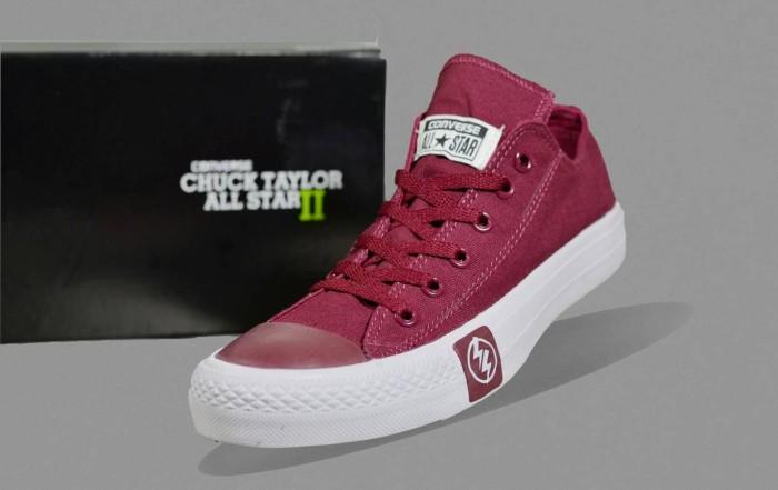 sepatu Converse pria low promo harga termurah dan terlaris 39 40 41 42 -  Hitam 5103975464