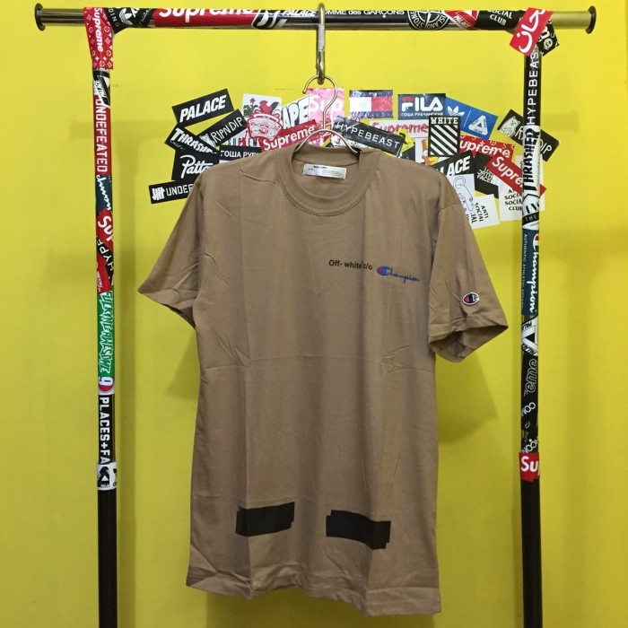 1f76d6fc3 Jual Kaos Tshirt Skate Off White x Champion Coco Diagonal Arrow ...
