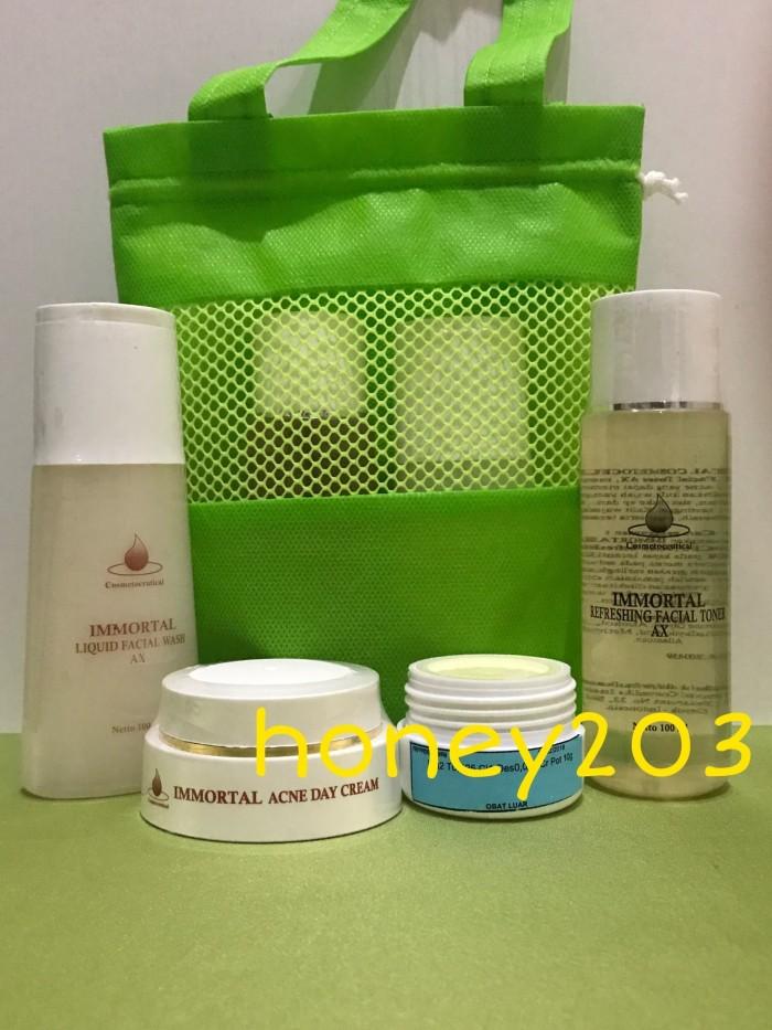 harga Paket immortal acne glow (9) plus tas  (kode 4) Tokopedia.com