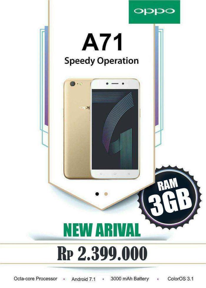 Oppo A71 3gb Face Unlock Di Peatix