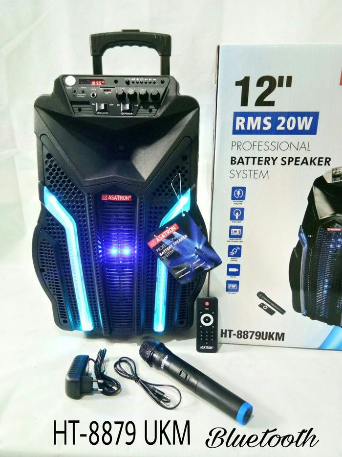 harga Speaker portable asatron 12 inch bluetooth amplifier meeting wireless Tokopedia.com