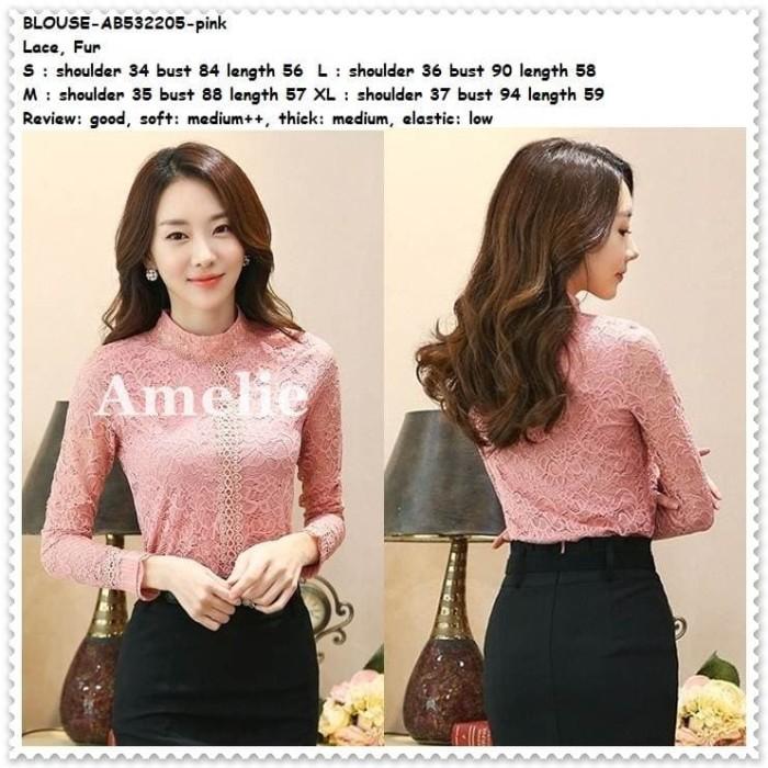 harga Baju atasan pesta brukat brokat blouse wanita korea import tunik pink Tokopedia.com