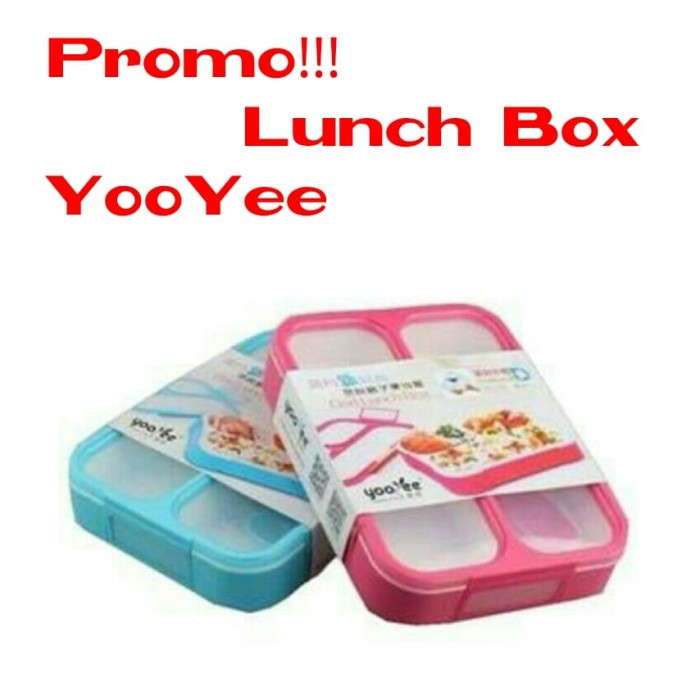 Lunch box kotak makan yooyee 3 sekat bento kotak bekal anti bocor 579