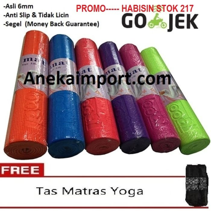 harga Yoga mat, matras yoga, alat olahraga fitnes, matras senam 6mm Tokopedia.com