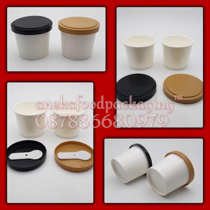 harga Paper cup/gelas ice cream 4oz+ttp+sendok Tokopedia.com