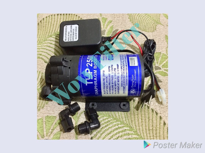 Jual Pompa RO 24 volt Dengyuan TYP 2500 Booster Pump 24V ...