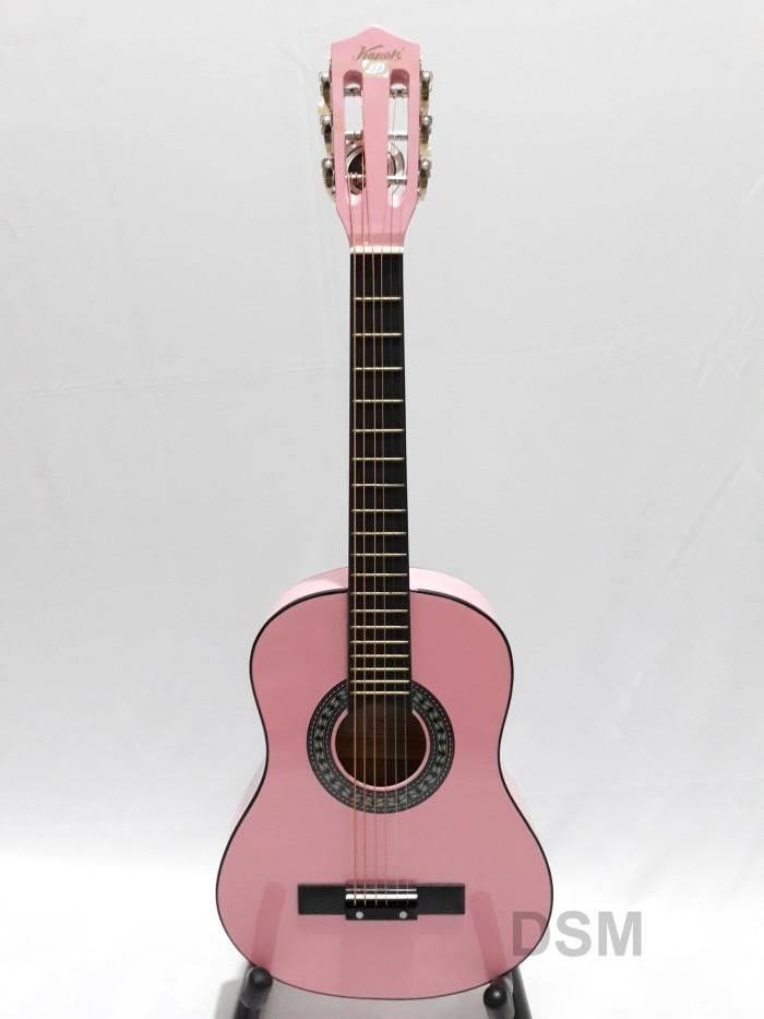 Jual Gitar Kecil Akustik Kapok Fg 031 Pink Ori 79cm Deli Sport