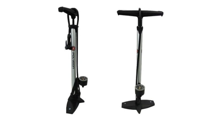 harga Floor pump polygon with gauge | pompa angin ban sepeda - body alloy Tokopedia.com
