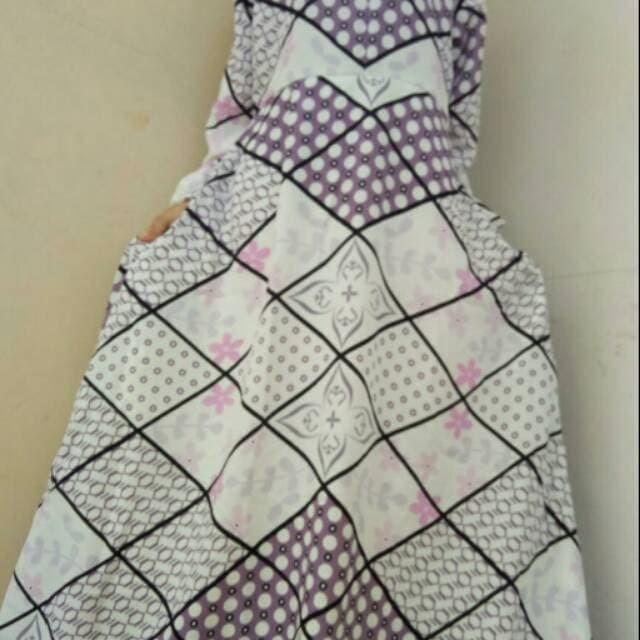 baju muslim wanita Gamis Motif Abstrak Balodior | Balotelli Syari 1