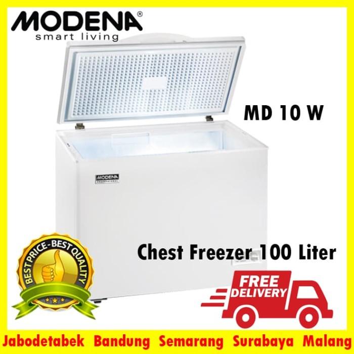 harga Md 10 w chest freezer modena 100 liter garansi resmi Tokopedia.com