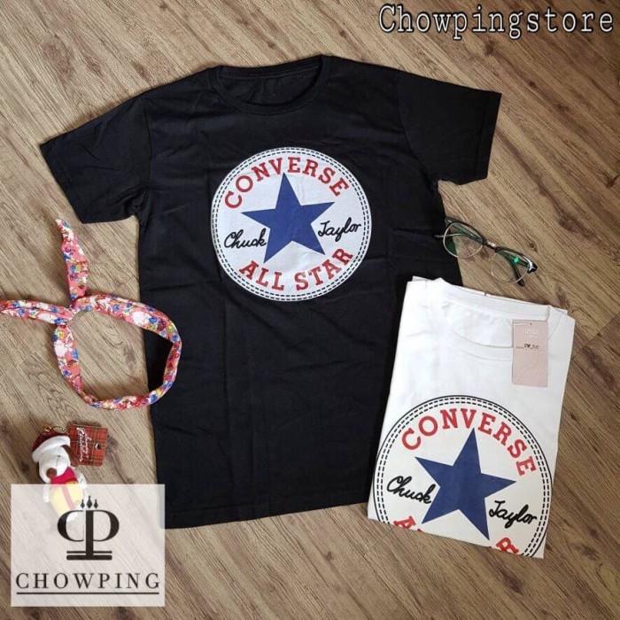 harga K026 - kaos / tumblr tee / t-shirt wanita / cewek converse classic Tokopedia.com