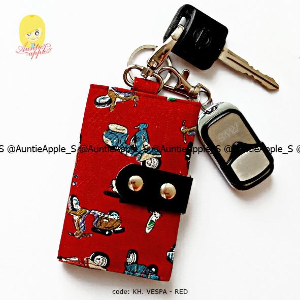 harga Dompet kunci mobil motor/dompet kunci/key holder vintage vespa red Tokopedia.com