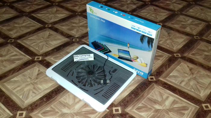 Cooling pad N19/Kipas Laptop/Coolfan/Cooler Fan Laptop/Notebook 1kipas - Putih