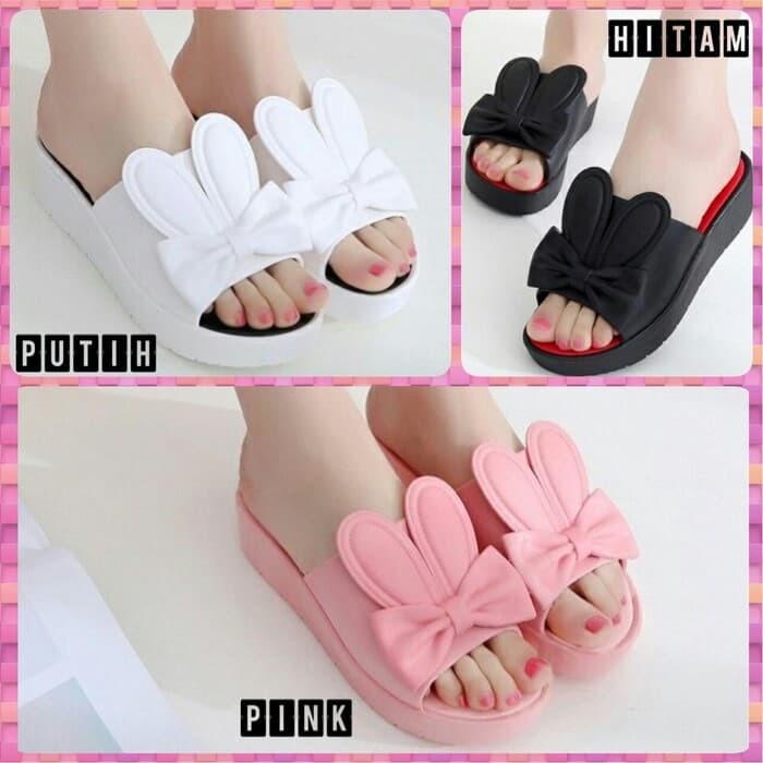 harga Ab13 sendal sandal selop wedges hak tinggi cantik fashion wanita Tokopedia.com