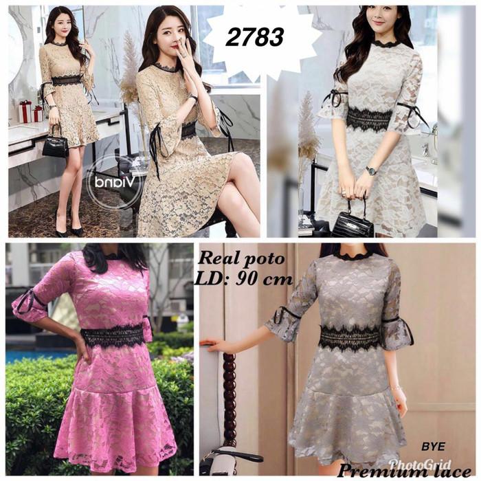 harga Dress brukat 2783 (ld 90) bhn full brukat Tokopedia.com