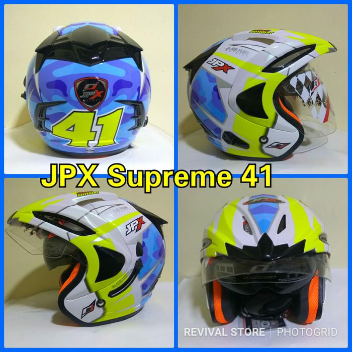 ... Black Doff Obral co Source Helm JPX Supreme 41 Espargaro double visor