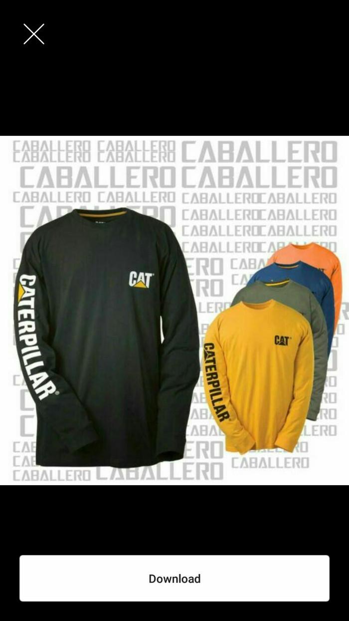 Jual Kaos Baju Big Size Lengan Panjang Caterpillar Kuning Jakarta Timur Berkat BIGSIZE