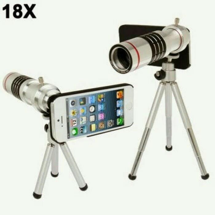 harga Lensa kamera handphone 18x zoom portable telezoom lens camera hp Tokopedia.com