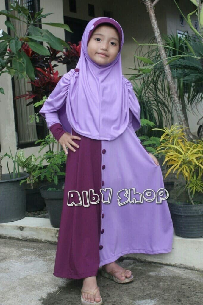 Jual busana muslim anak perempuan. syari anak. jubah anak. dress ... 79af101093