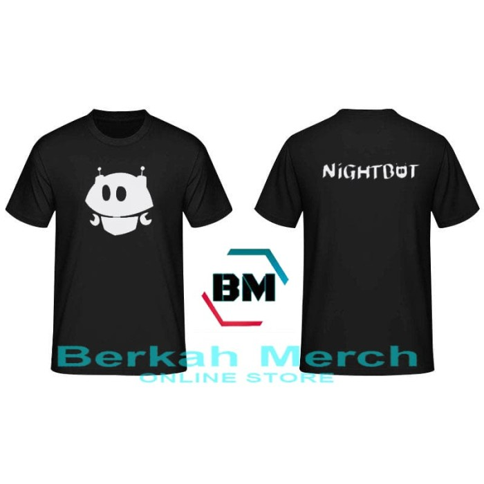 Jual Tshirt / Kaos Night Bot - Hitam - Berkah Merch - Kota Bandung - Berkah  Merch | Tokopedia