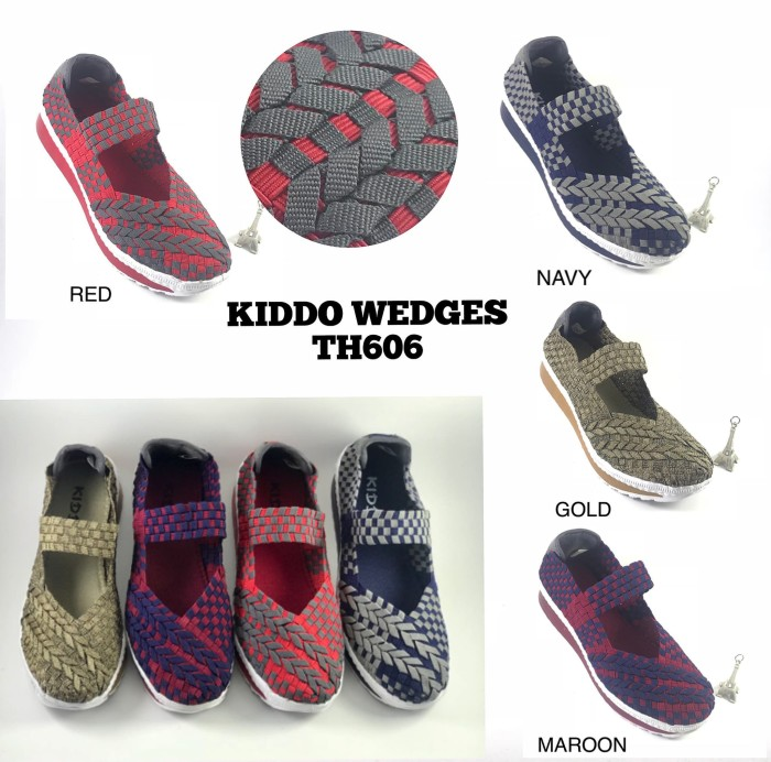harga Sepatu rajut lulia cynthia kiddo new th606 wedges Tokopedia.com