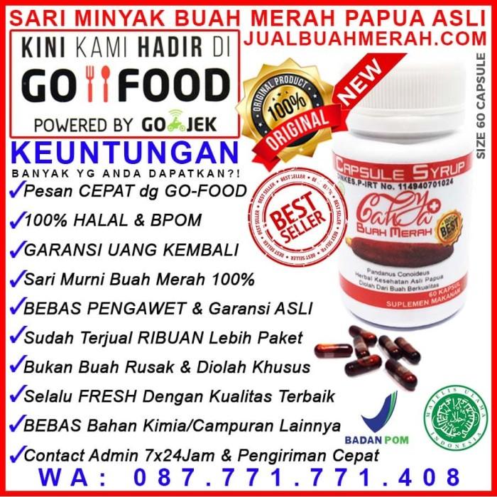 Red oil papua kapsul minyak buah merah 60 kapsul .