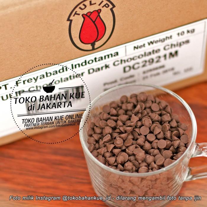 Tulip dark compound coklat chips choco cokelat chip mini premium 500gr