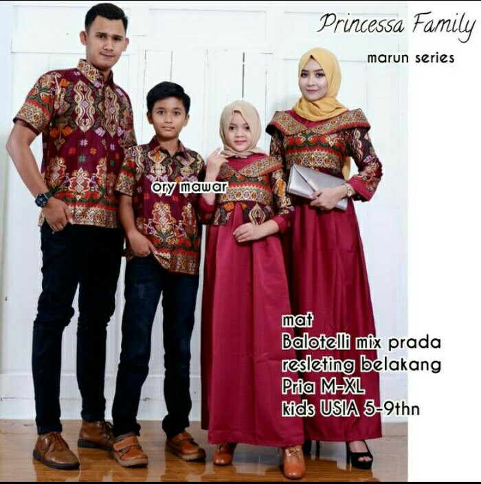10+ Ide Model Baju Gamis Batik Couple Keluarga