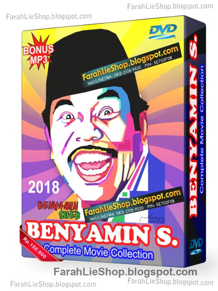 Jual Koleksi Film Benyamin Collection Dvd Benyamin Dvd Film Benyamin