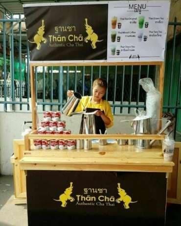 harga Booth Rombong Gerobak Thai Tea Full Kayu Jati Londo Tokopedia.com