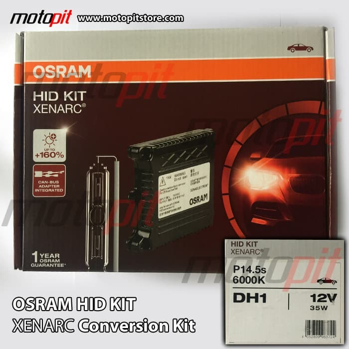 harga Osram hid xenarc conversion kit h1 6000k 12v 35w p14.5s Tokopedia.com