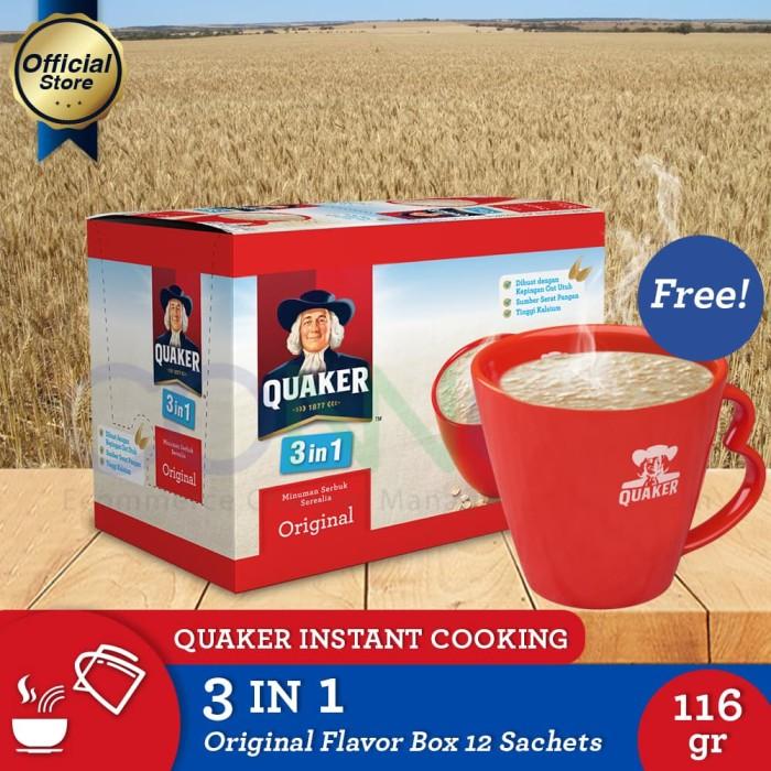 harga [buy 1 free mug]quaker 3in1 original box 12s(as2p-1mug-8997020180459) Tokopedia.com