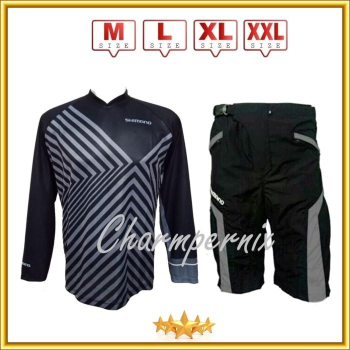 Baju kaos jersey sepeda dan celana sepeda padding downhill bawah