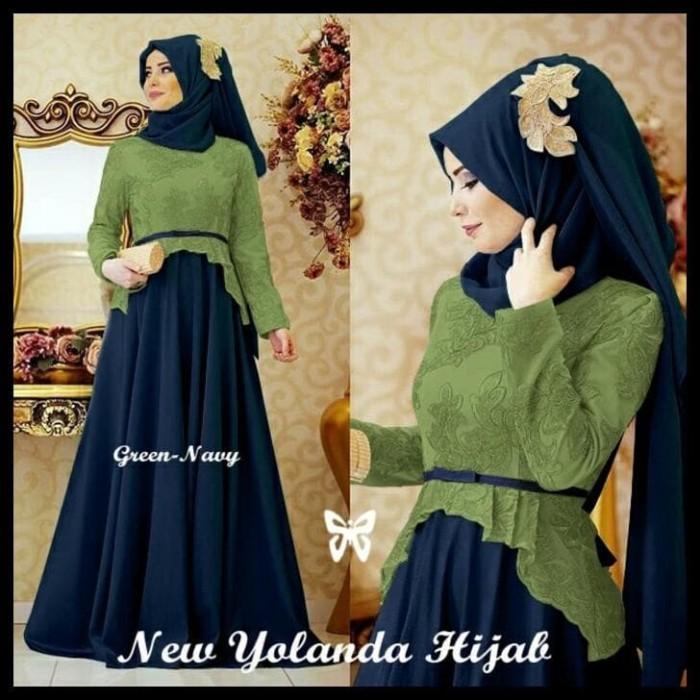 Harga Hemat! Gamis / Baju / Pakaian Wanita Muslim Yolanda Syari 3