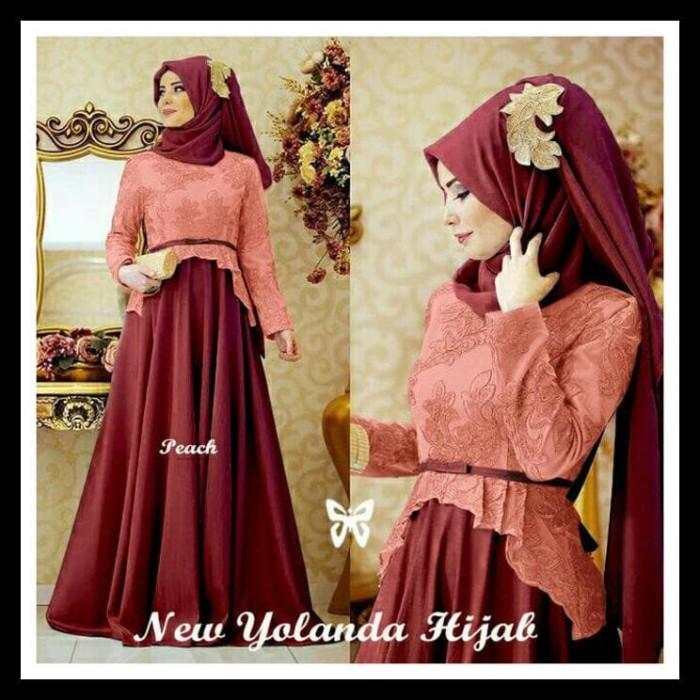 Harga Hemat! Gamis / Baju / Pakaian Wanita Muslim Yolanda Syari 1