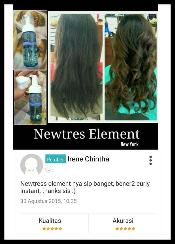 Foto Produk Hot! Newtress Element Curly Instant Dan Awet Dgn Cara Baru Tanpa Panas dari Glow Skin More