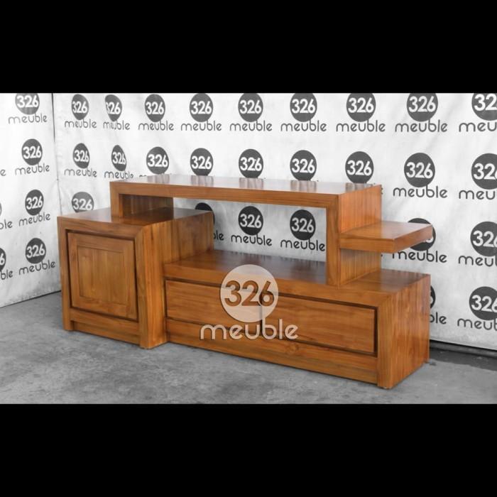 harga Meja tv modern minimalis mebel jepara - bufet tv jati mebel jepara Tokopedia.com