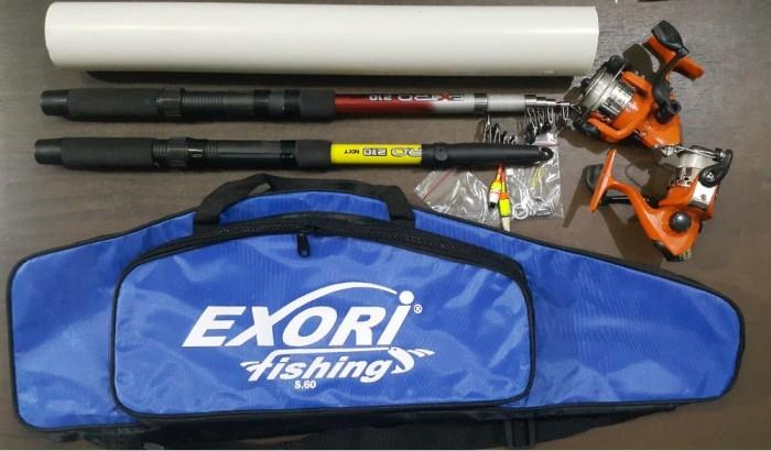 harga 2 set alat pancing 240 (joran tas reel ++) full set joran: harga promo Tokopedia.com