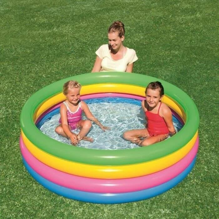 harga Kolam pelangi 4ring 157cm / kolam renang anak / kolam bestway Tokopedia.com