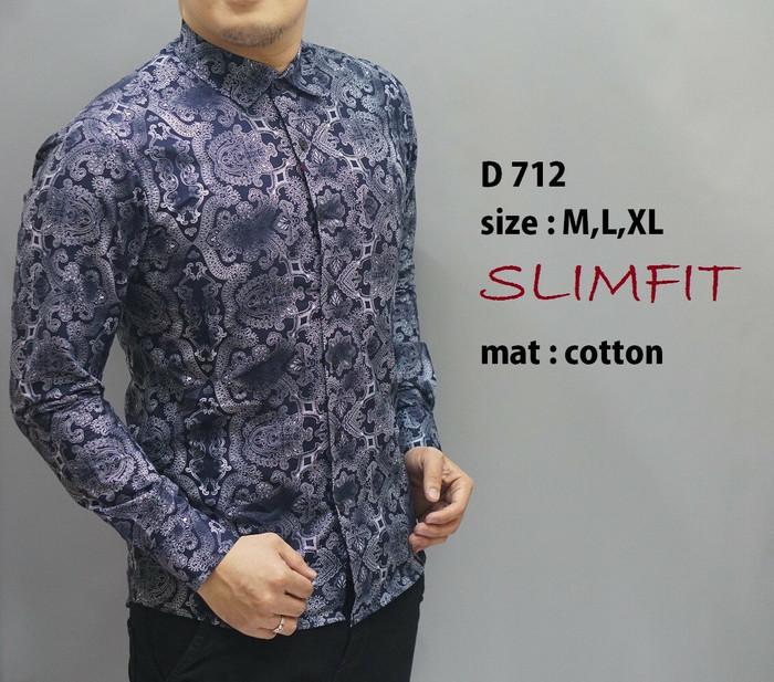 ... Kemeja Batik Pria Gradation Navy Panjang Slimfit Baju Batik Cowok Source BAJU KEMEJA BATIK PRIA