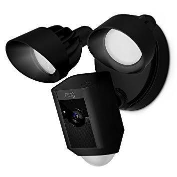 Ring flood light security camera - hitam