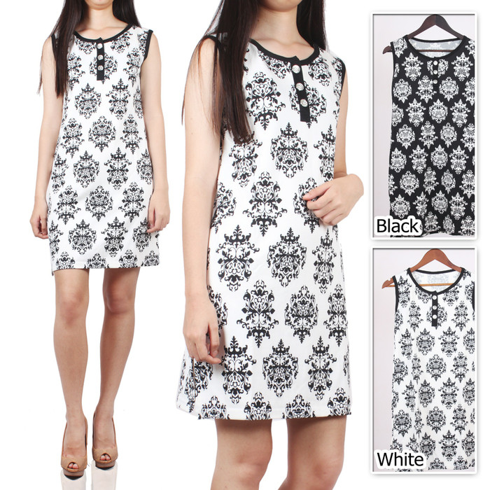 harga Queen dress / dress tank top midi wedges batik Tokopedia.com