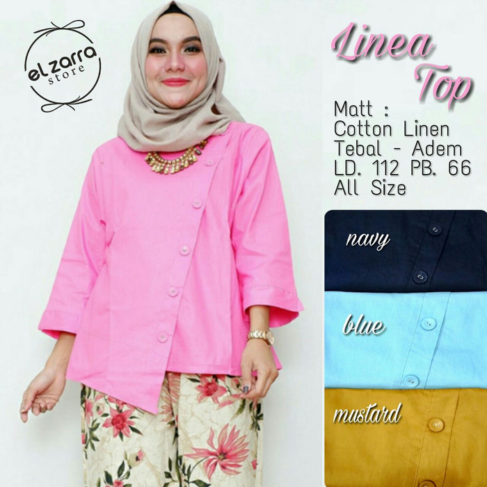 ... harga Baju wanita blouse tunik linea top muslim unik lucu trendi keren  Tokopedia.com fb480f698f