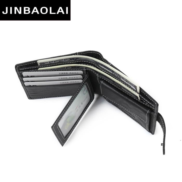... Pria Soft Leather Wallet Black Source JINBAOLAI Dompet Kulit Casual