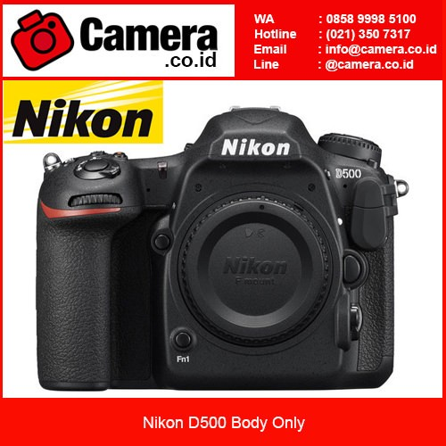 harga Nikon d500 body only - hitam Tokopedia.com
