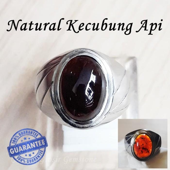 harga Cincin batu keren natural kecubung api yaman wulung api asli aceh Tokopedia.com